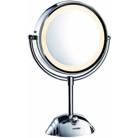 BaByliss 8438E Specchio Luminoso, Circolare, Double Face Ingrandimento 1X /