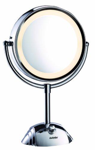 BaByliss 8438E Kosmetikspiegel 8-fach - Gesichts-licht-schalter