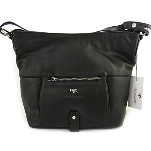 Borsa a tracolla in pelle 'Gil Holsters'nero.