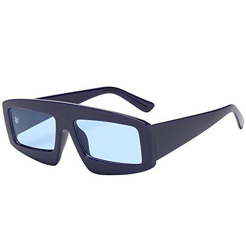 Rosennie Unisex Retro Polarisierte Sonnenbrille Lustig Sunglasses Unisex Shades Sonnenbrille Ultraleicht Spiegel Linse für Herren und Damen Square Shade Fahrer Brille