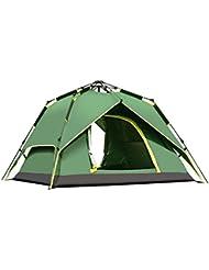 ysayc Outdoor Camping totalmente automático doble tienda de campaña para 3–4personas, verde