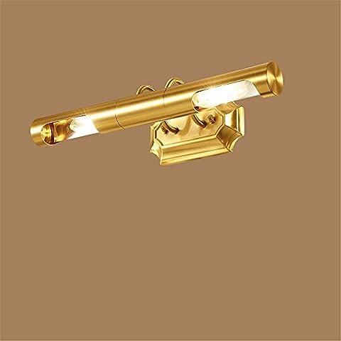 LLHZ-E14 American, rame, luci a specchio, bagno, wc, lampade da parete, toeletta Luci specchietto , 48cm - 8 Glass Mirror Ball
