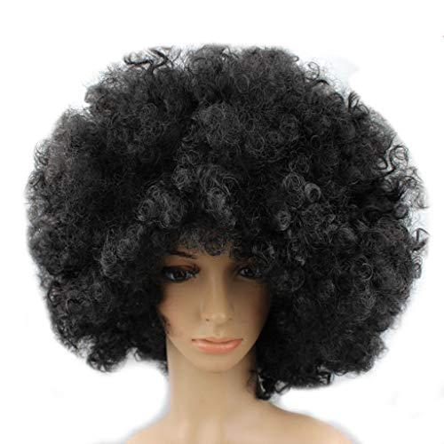 artei-Disco-lustige Afro-Clown-Haar-Fußball-Fan-Erwachsener Afro-Maskerade-Haar-Perücke Perücken Haarteile für Erwachsene ()