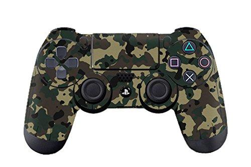 DOTBUY PS4 Design Schutzfolie Skin Sticker Aufkleber Set styling für Sony Playstation 4 Controller X 1 (Camouflage Black) (Die Tasten Bundle Vinyl Schwarzen)