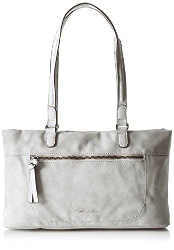 Tamaris Damen Twiggy Shoulder Bag Schultertasche, Grau (Grey), One Size (Suede-leder-hobo)