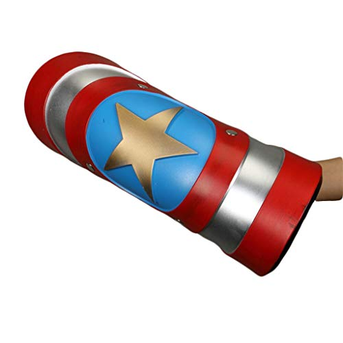 Captain Kit Kostüm America - Captain America Shield Erwachsene Cosplay Party Requisiten Zubehör Cos Alliance Faltbare Waffen für Halloween Kostüme Zubehör für Halloween Party,Multicolor,43cm
