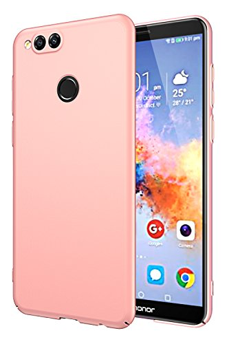 EIISSION Huawei honor 7X Custodia,Ultra sottile che cade superficie protettiva opaca Custodia / case / cover per Huawei honor 7X smartphone ,oro rose