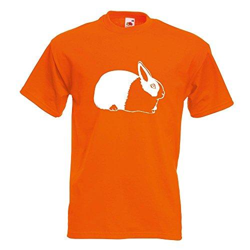 KIWISTAR - Hasen Piktogramm - Häschen - Kaninchen T-Shirt in 15 verschiedenen Farben - Herren Funshirt bedruckt Design Sprüche Spruch Motive Oberteil Baumwolle Print Größe S M L XL XXL Orange
