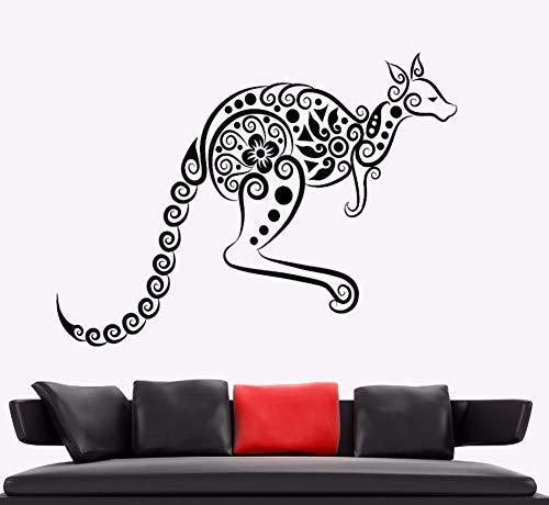Zxfcczxf Wandaufkleber Känguru Tier Vinyl Wandtattoo Australien Ornament Wandkunst Wandhaupt Wohnzimmer Dekor Känguru Vinyl Kunst78 * 55 ()