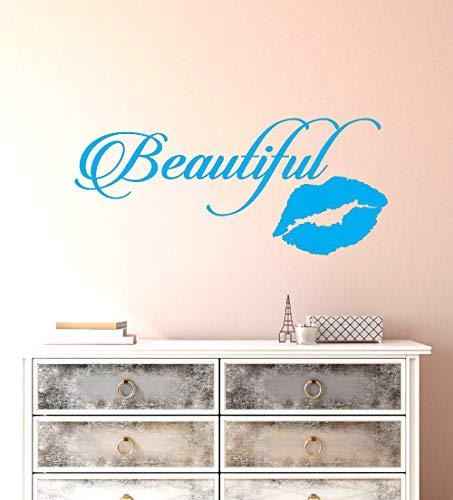 Vinyl Wandtattoo Schöne Sexy Kuss Lippendruck Mund Schlafzimmer Nachttisch Home Beauty Salon Dekoration Wandaufkleber 57 * 130 cm