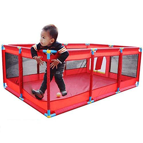 DF Kinderschutzlaufstall Babykrabbelspiel Zaun Indoor und Outdoor Sicherheitszaun (größe : Cushion+200 Goals)