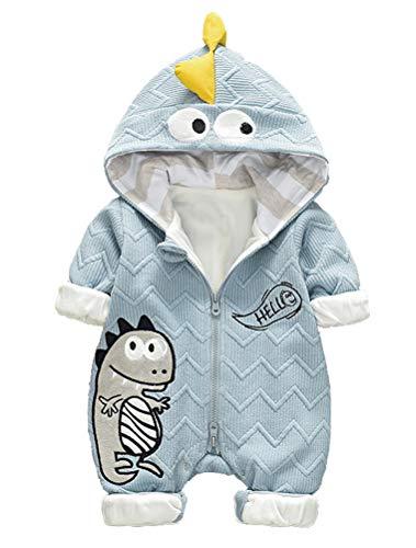 ARAUS Pagliaccetto Tute Zip up con Cappuccio da Bimbo Neonata Bambina Romper Attrezzatura Stile Animale Cotone Imbottitura in Cotone 0-14 Mesi