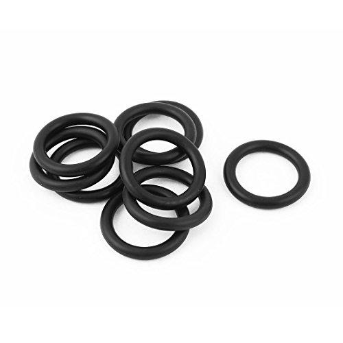 Sourcingmap® Gummi Ölablassschraube Shift Schaft Filter Seal Ring 100schwarz -