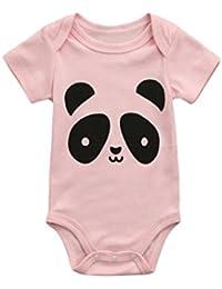 PAOLIAN Monos Ropa para bebé niñas Mameluco Verano Impresion de Cordones  Gato y Panda Fiestas Cómodos 9480d2830ea