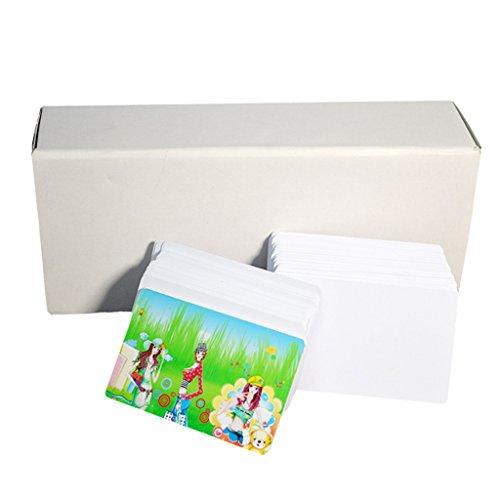 Pvc-karten-drucker (Emore CR8030mil Kunststoff weiß blanko PVC Inkjet Printing Karte für Epson Canon Tintenstrahldrucker)