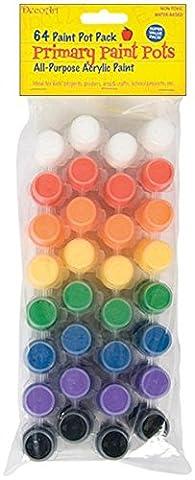 Deco Art Papier Value Pack Pots de peinture acrylique 64kg-primary