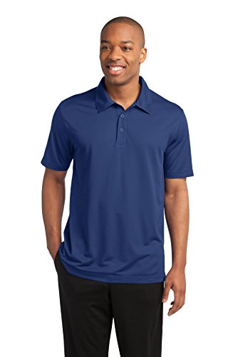 Sport-Tek Herren Button-down Poloshirt Blau - True Royal