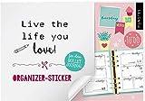 myNOTES Live the life you love!: Organizer-Sticker für dein Bullet Journal
