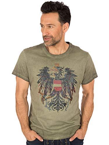 Krüger Dirndl Trachten T-Shirt Österreich braun, S