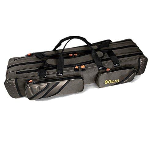 TentHome Angeltaschen rutentaschen Rutenfutteral Anglertasche Angelkoffer Angelrute Tasche mit 3 Fächern - Verschiedene Längen (100)