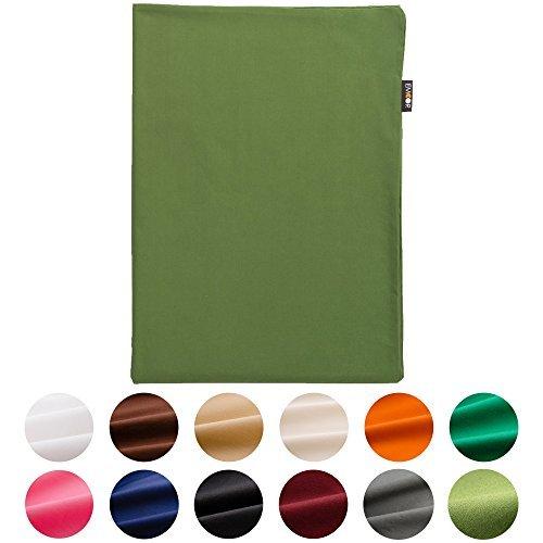 EMOOR Bezug 100% Baumwolle für traditionellen japanischen Boden Futon, Baumwolle, olivgrün, Volle Größe