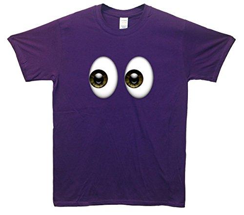 Shifty Eyes Emoji T-Shirt Lila