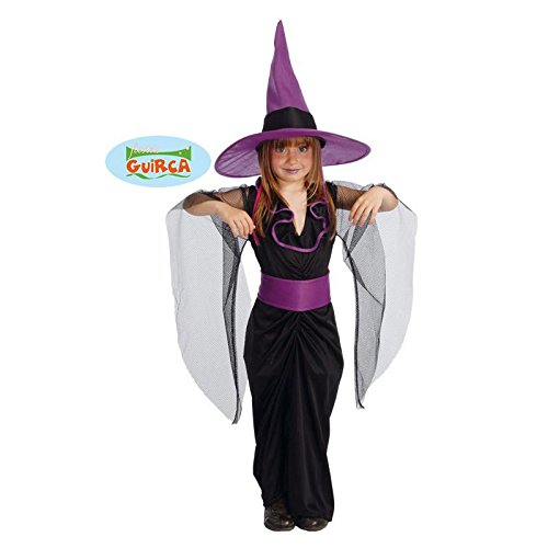 elegantes Kinder Hexen Kostüm Gr. 110-146, Größe:110/116