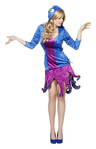 Damen Kostüm Krake Tintenfisch Karneval Fasching Gr.40