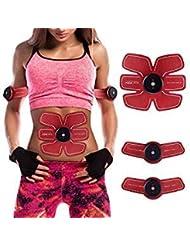 Shuainiu Abdominal Muscle Toner ABS Ceinture Portable Ajustement Musculaire Ceinture Exercice
