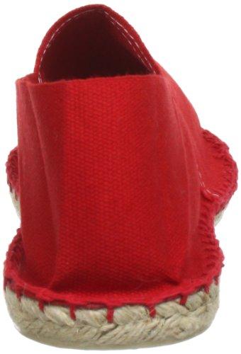 Espadrij 100, Espadrilles mixte adulte Rouge (Rouge 60)