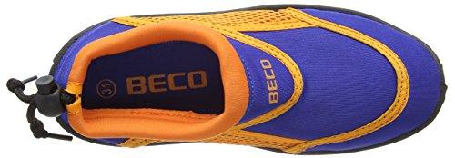 BECO chaussons aquatiques chaussure de bain chaussures néoprènes bleu/orange