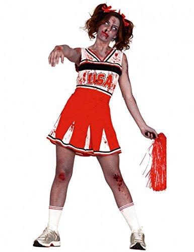Imagen de disfraz de animadora mujer zombie talla m