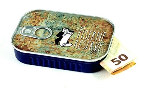 Sardinendose EISERNE RESERVE - die ultimative Geldgeschenk-Idee