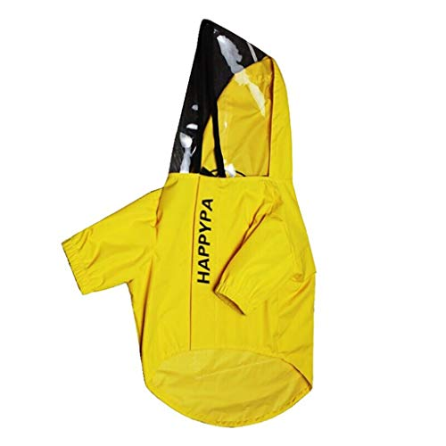 Welpe Regenmantel Puppy Dünne Kleidung Hund Jacke Kleidung Hund Atmungsaktive Jacke Puppy Sommerkleidung Small Dog Clothing Puppy Coat Puppy Kleidung (Color : Yellow, Size : L) -