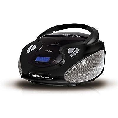 Lauson Radio Lecteur CD/Mp3 Port USB Boombox Portable AM/FM SD-Card Lecteur CD de Lauson