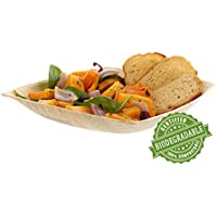 CiboWares Premium 8 Deep Square Areca Palm Leaf Plate, Eco-Friendly and Disposable for Home and Catering, Package of 25 by CiboWares