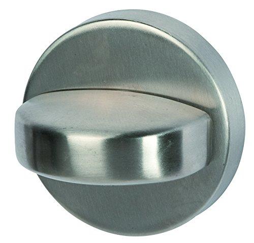 Alpertec 28020860K1 Edelstahl WC - Rosette mit Sperriegel Ø 52 mm Türriegel Badriegel NEU