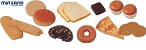 Miniland Set de 15 artículos de repostería para Jugar Colores Reales (30583)