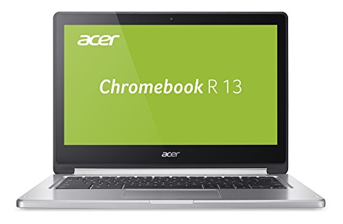 Acer Chromebook R 13 (CB5-312T-K0YK) 33,8 cm (13,3 Zoll Full HD IPS 360°) Convertible Notebook (MediaTek Quad-Core MT8173C, 4GB RAM, 32GB eMMC, Google Chrome OS, Multi-Touch) silber