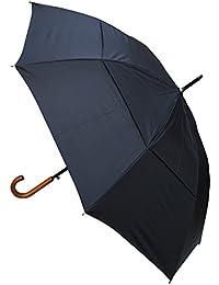 C&C LONDON - TRÈS ROBUSTE - Toile aérée - CONCEPTION HAUTEMENT TECHNIQUE POUR COMBATTRE LES DOMMAGES CAUSÉS PAR LES RETOURNEMENTS - Parapluie canne - Ouverture automatique - Poignée en bois - Noir