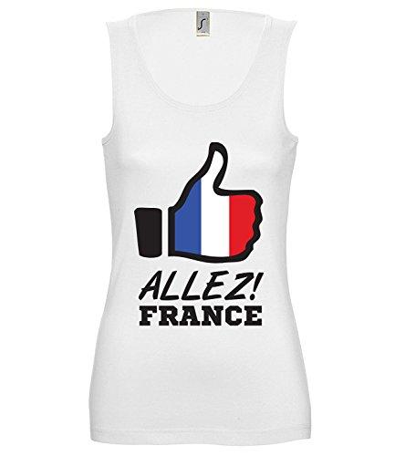 Artdiktat Damen Tank Top – Like WM 18 – Allez France – Russia Russland