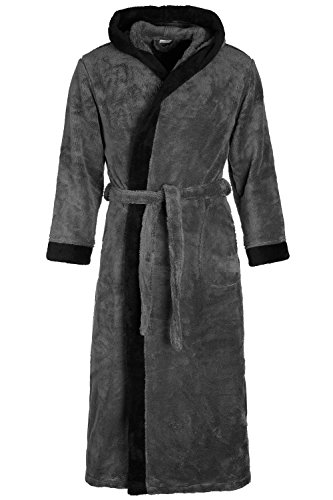 Di Vadini DV-02 Unisex Bademantel Grey/Black Gr. S
