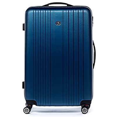 """FERGÉ set 2 Hard-case luggage (Carry-On & XL) Suitcase Hardside Spinner trolley set TOULOUSE two pcs 20"""" & 28"""" hard shell luggage 4 twin Spinner-wheels (360) blue - luggage-sets"""