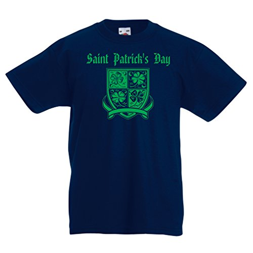 Patrick's day Shamrock symbol - Irish party time (5-6 years Dunkelblau Mehrfarben) (Halloween-songs Für Flöte)