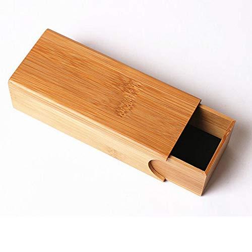 Y-WEIFENG Schubladentyp Cuboid Handgemachte Natürliche Bambus Brillenetui Umwelt Gläser Box Für Holz Bambus Sonnenbrille Gläser Aufbewahrungsbox