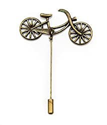 Avaron Projekt Antique Gold Bicycle Lapel Pin /Brooch For Men