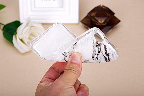 iPhone 5C Case,iPhone 5C Hülle - Felfy Apple iPhone 5C Ultra Slim Ultradünn Case Soft Gel Flexibel TPU Silikonhülle mit Bling Sternchen Gradient Farbe Design Protective Scratch Resistant Bumper Case B Marmor Weiß