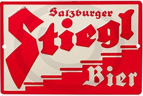 qidushop Stiegl Bier Store Pub Brew Reproduktion (Nicht geprägt) Neuheit Aluminium Blechschild Wand Dekoration für Männer 20 x 30 cm -