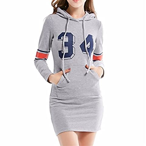 ICOCOPRO 2017 Womens's Long Pullover Sleeve Slim Sweatshirt Causal Hoodie