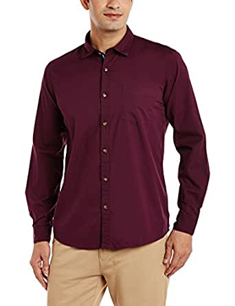 Ruggers by Unlimited Men's Casual Shirts (8907542490141_400016393194_Small_Maroon)